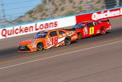 Daniel Suarez, Joe Gibbs Racing Toyota and Harrison Rhodes, JD Motorsports Chevrolet
