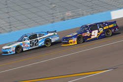 Joey Gase, Jimmy Means Racing Chevrolet and Chase Elliott, JR Motorsports Chevrolet