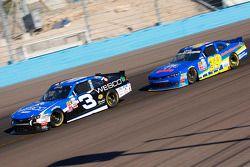 Ty Dillon, Richard Childress Racing Chevrolet and Ryan Sieg, RSS Racing Chevrolet