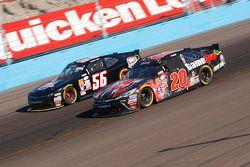 Erik Jones, Joe Gibbs Racing Toyota and Timmy Hill, Rick Ware Racing Ford