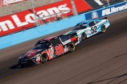 Erik Jones, Joe Gibbs Racing Toyota and Joey Gase, Jimmy Means Racing Chevrolet