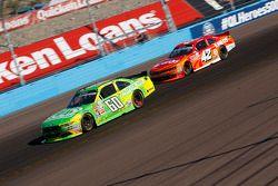 Chris Buescher, Roush Fenway Racing Ford and Kyle Larson, Hscott Motorsports Chevrolet