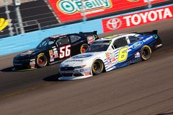 Darrell Wallace Jr., Roush Fenway Racing Ford and Timmy Hill, Rick Ware Racing Ford