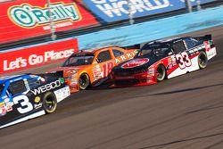 Ty Dillon, Richard Childress Racing Chevrolet and Daniel Suarez, Joe Gibbs Racing Toyota and Austin