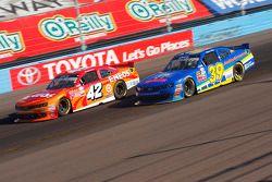 Kyle Larson, Hscott Motorsports Chevrolet and Ryan Sieg, RSS Racing Chevrolet