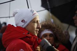 Kris Meeke, Citroën World Rally Team, mit der Presse