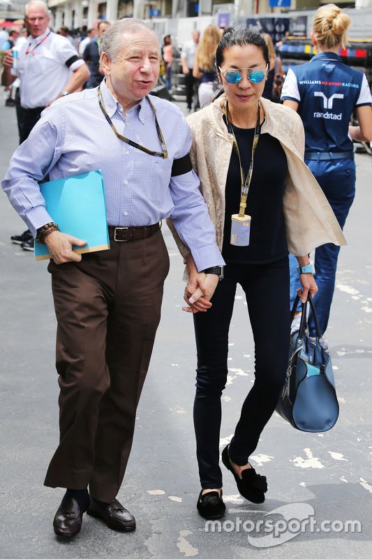 (L to R): Jean Todt, FIA President with his wife Michelle Yeoh at Brazilian GP - Formula 1 Photos