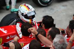 Terzo posto Sebastian Vettel, Ferrari SF15-T