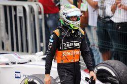 Sergio Perez, Sahara Force India F1 dans le Parc Fermé
