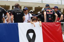 Felipinho Massa, le fils de Felipe Massa, Williams, lors de la parade des pilotes