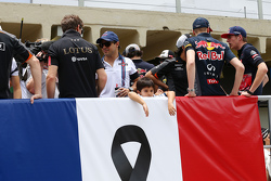 Felipinho Massa, son of Felipe Massa, Williams, on the drivers parade