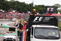 Lewis Hamilton, Mercedes AMG F1 lors de la parade des pilotes