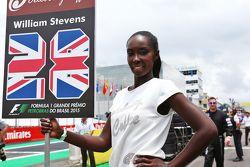 La Grid Girl de Will Stevens, Manor Marussia F1 Team