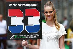 Grid girl para Max Verstappen, Scuderia Toro Rosso