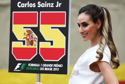 Grid girl for Carlos Sainz Jr., Scuderia Toro Rosso