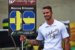 Grid boy for Marcus Ericsson, Sauber F1 Team