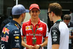 (L to R): Pierre Gasly, Red Bull Racing Test Driver with Esteban Gutierrez, Ferrari Test and Reserve Driver and Stoffel Vandoorne, McLaren Test and Reserve Driver