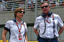 (L to R): Claire Williams, Williams Deputy Team Principal with Mike O'Driscoll, Williams Group CEO on the grid