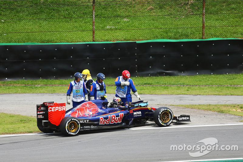 Carlos Sainz Jr., Scuderia Toro Rosso STR10, mit Ausfall in der ersten Runde