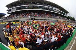 Les fans sous le podium