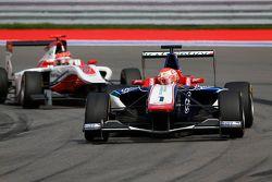 Antonio Fuoco, Carlin leads Esteban Ocon, ART Grand Prix