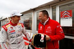 Yves Matton, Directeur de Citroën Racing, avec Kris Meeke, Citroën World Rally Team