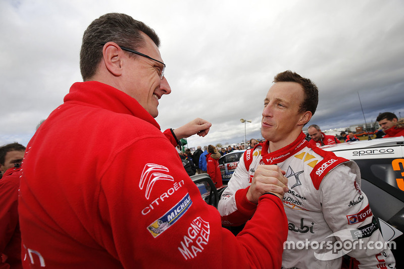 Marek Nawarecki, Team Manager Citroën Racing, mit Kris Meeke, Citroën World Rally Team