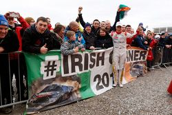 Kris Meeke, Citroën World Rally Team with Irish fans