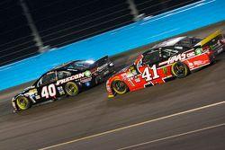 Landon Cassill, Hillman Circle Sport LLC Chevrolet en Kurt Busch, Stewart-Haas Racing Chevrolet