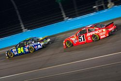Jeff Gordon, Hendrick Motorsports Chevrolet en Justin Allgaier, Hscott Motorsports Chevrolet
