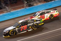 Martin Truex Jr., Furniture Row Racing Chevrolet and Michael Annett, Hscott Motorsports Chevrolet