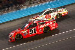 Justin Allgaier, Hscott Motorsports Chevrolet and Michael Annett, Hscott Motorsports Chevrolet