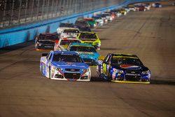 Jeff Gordon, Hendrick Motorsports Chevrolet and Jamie McMurray, Chip Ganassi Racing Chevrolet