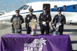 Les trophées arrivent à Miami