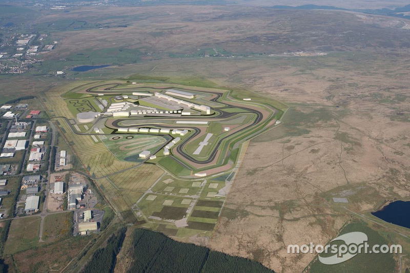 An aerial view of the Circuit of Wales