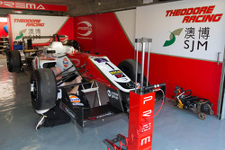 Felix Rosenqvist, Prema Powerteam Dallara Mercedes-Benz car in the garage