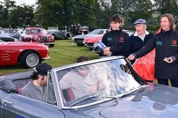 Zak Brown with Dario Franchitti and Sir Jackie Stewart