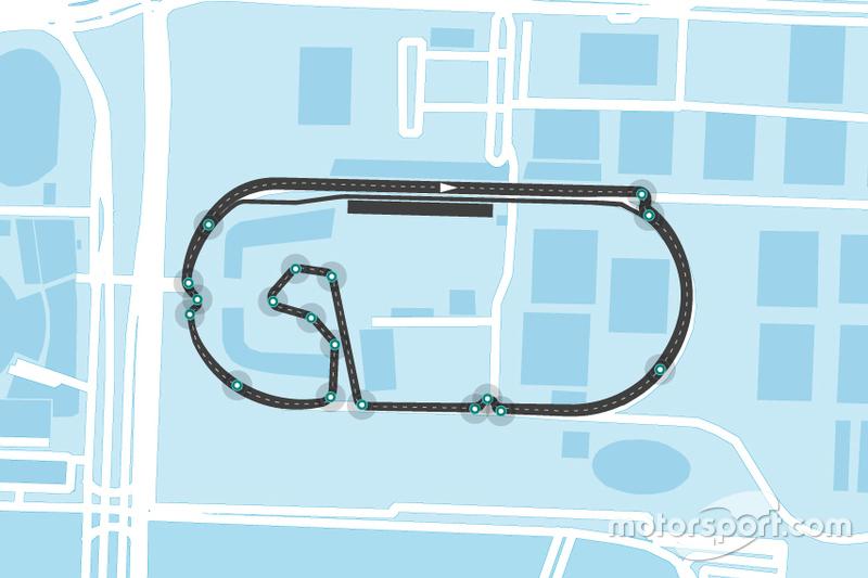 Tracé de la Formule E à Mexico City