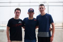 Second place Stoffel Vandoorne, ART Grand Prix and polesitter Pierre Gasly, DAMS and third place Raf