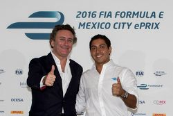 Alejandro Agag CEO Formula E e Salvador Duran Team Aguri