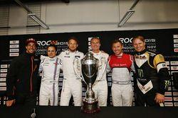 Daniel Ricciardo, Felipe Massa, Jenson Button, David Coulthard, Tom Kristensen, Petter Solberg