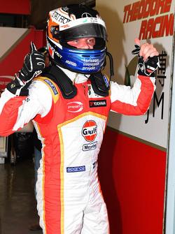 Le poleman Felix Rosenqvist, Prema Powerteam Dallara Mercedes-Benz