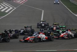 Rene Binder, MP Motorsport, Dean Stoneman, Carlin, Nicholas Latifi, MP Motorsport and Sergio Canamasas, Team Lazarus