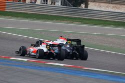 Nicholas Latifi, MP Motorsport, leads Sergio Canamasas, Team Lazarus and Rene Binder, MP Motorsport