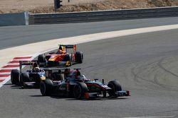 Sergey Sirotkin, Rapax leads Pierre Gasly, DAMS and Alexander Rossi, Racing Engineering