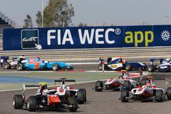Luca Ghiotto, Trident voor Alfonso Celis Jr., ART Grand Prix en Esteban Ocon, ART Grand Prix