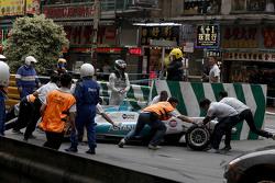 Daniel Juncadella, Fortec Motorsport, Dallara Mercedes, mit Ausfall
