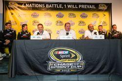Chip Ganassi, Dave Pericak ve Raj Nair from Ford ve Chip Ganassi Ford GTLM, IMSA ve Le Mans pilotlar