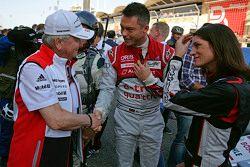 Andre Lotterer, Audi Sport Team Joest met Cyndie Allemann en Wolfgang Porsche, voorzitter van de Sup
