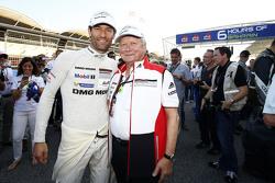 Mark Webber, Porsche Team met Dr. Wolfgang Porsche